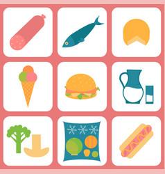 Listeria contaminated food vector
