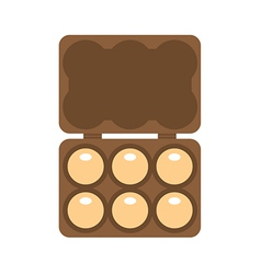 Egg container vector