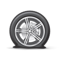 flat tire vector image