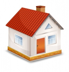 Small village house isolated vector