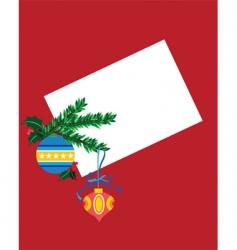 Christmas blank card vector