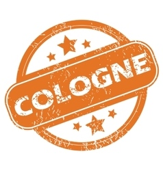Cologne round stamp vector