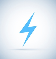 Lightning icon isolated on white background vector