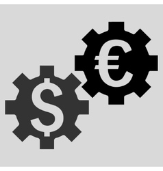 Financial mechanics flat icon vector