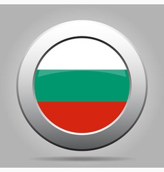 Metal button with flag of bulgaria vector