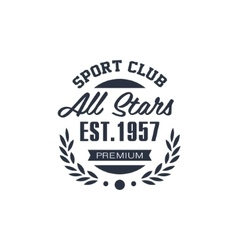 Classic Sport Label All Stars vector image