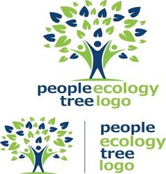 People ecology tree logo 7 vector