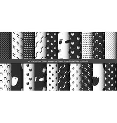 Abstract grey animal footprint seamless pattern se vector