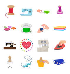 coil with thread sewing machine fabric and other vector image vector image