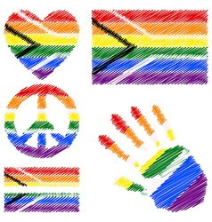 Design elements for gay pride of south africa vector