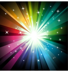 explosion of colorful lights vector image