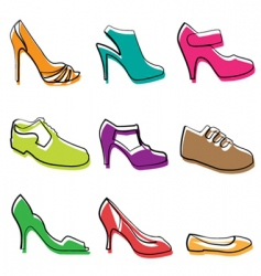 fashion shoes design vector image vector image