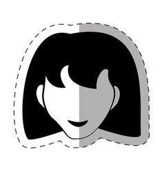 female faceless avatar image vector image