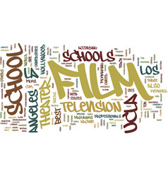 Film schools in la text background word cloud vector