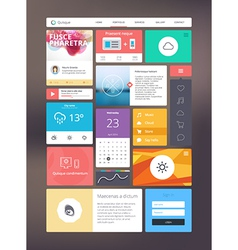 Flat ui kit for responsive web design vector image vector image