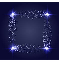 Glowing stars ghts and sparkles vector