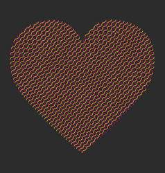 heart modern abstract vector image vector image