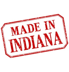 Indiana - made in red vintage isolated label vector
