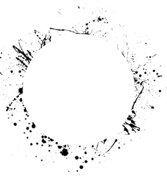 Ink blots circle vector image vector image