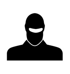 man in balaclava or pasamontanas vector image