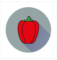 pepper simple icon on white background vector image vector image