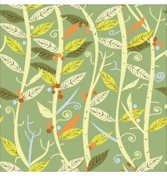 Plants Seamless Pattern vector image