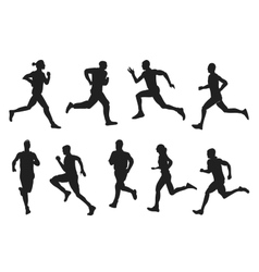 running set vector image
