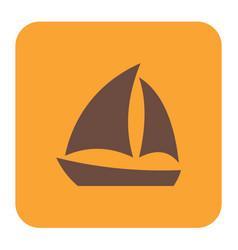 Sailboat icon simple vector