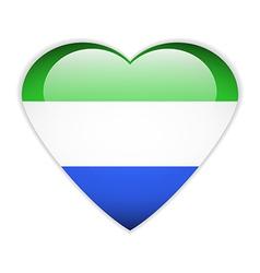 Sierra leone flag button vector
