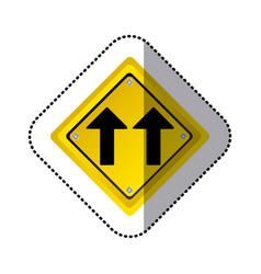 Sticker yellow diamond shape frame same direction vector