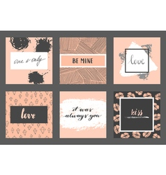 Valentine cards set vector image vector image