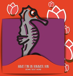 with summer and sea horse vector image vector image