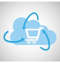 cloud technology shopping online media icon vector image