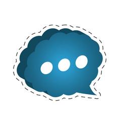 Cloud speech bubble dialog cut line vector