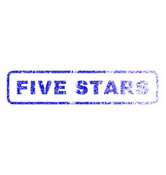 five stars rubber stamp vector image