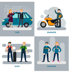 Car repair square concept vector