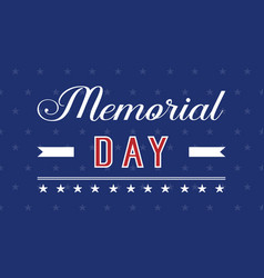 Collection background of memorial day vector