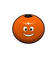 Cheerful cartoon orange fruit vector
