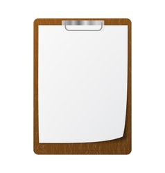 Blank white page clip vector