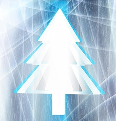 Christmas tree for the frozen window vector
