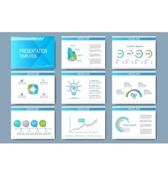 Blue set of templates for presentation vector