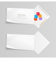 Paper banner with cube logo labels for your text vector