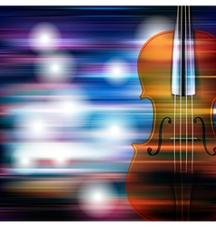 Abstract blue white music background with violin vector