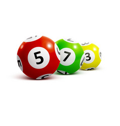 Ball lottery numbers 3d vector