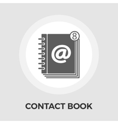Contact book flat icon vector