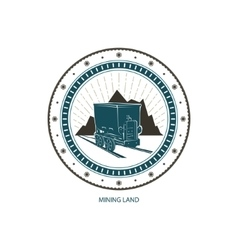 Emblem of the Mining Industry vector image