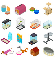 accessories for domestic pets set care animal vector image vector image