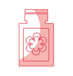 Bottle with flower spa icon vector