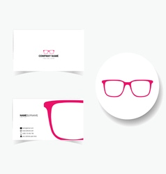 Business card with sunglasses vector