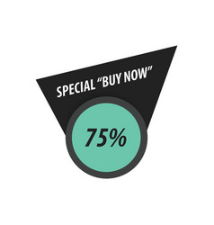 Buy now label design black green vector